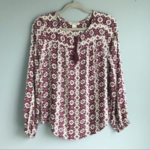 Lucky Brand Purple Print Blouse (small)